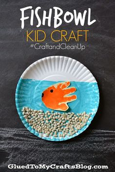 Fishbowl Kid Craft by CraftandCleanUp fish kidscraft preschool?