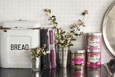 i want those pink tea tins.