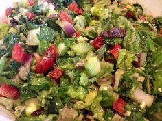 Chopped Greek Salad with Mustard Lemon Vinaigrette