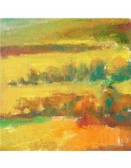 Johnny Apodaca Painting, Between La Mura & Casalini