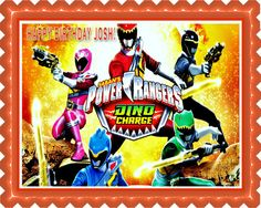 Power Rangers Dino Charge 2 Edible Cake OR Cupcake Topper – Edible Prints On Cake (EPoC)