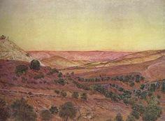 Thomas Seddon - The Mountains of Moab, 1854