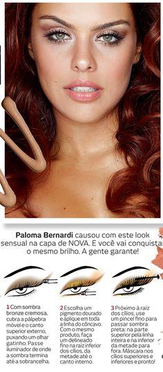 #Tutorial Quer copiar o make sensual que Paloma Bernardi usou na nossa capa? Aprenda com as dicas de Kaká Moraes!