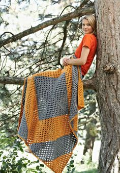 Patons Yarns Free Crochet Pattern - This crocheted Half