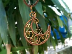 How to make wire jewelry - moon star pendant - inspired by Sailor Moon manga - YouTube