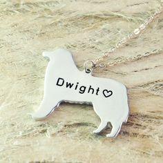 Bernese mountain dog necklace dog pendant by Handmadenamenecklace
