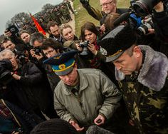 Russian troops took over the Belbek air base in Crimea. The photos were shot on March 4, 2014, amidst the tense standoff betwee...