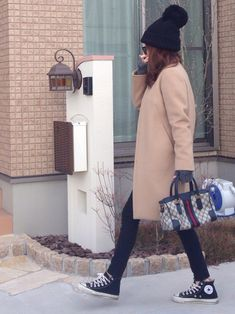 UNIQLOのニットキャップ・ビーニーを使ったmayumiさんのコーディネートです。│年末のユニクロ感謝祭でニット帽ゲーット。...