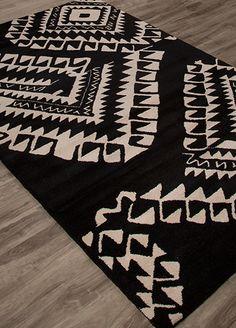 Wool Material carpet in Black color