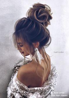 Nadi Gerber high updo wedding hairstyles #weddings #weddingideas #hairstyles #weddinginspiration #fashion #weddingupdos