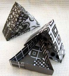Triangle origami boxes