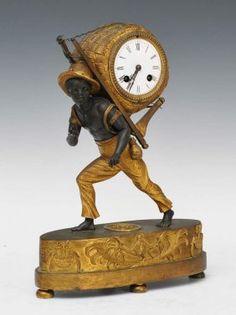 French Empire Blackamoor Clock : Lot 190