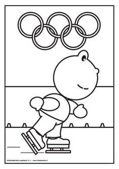 Frokkie schaatst mee met de olympische spelen Frokkie schaatst mee met de Olympische Spelen. Hij is goed getraind! Zou hij goud winnen voor Nederland