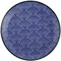 Tokyo Design Studio Nippon Blue Side Plate - Dot ($10) ❤ liked on Polyvore featuring home, kitchen & dining, dinnerware, blue, porcelain dinnerware, dot dinnerware, blue polka dot plates, polka dot dinnerware and dot plates