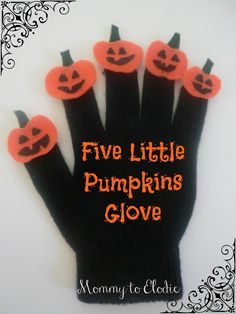 This is a craft for me n the 5 orange pumpkin song!!!! Let the leader were it everyday so everyone gets a turn