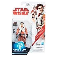 Star Wars Poe Dameron (Resistance Pilot) Force Link Action Figure