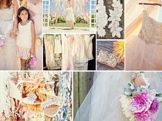 Pink and white wedding inspiration board