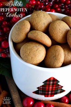 Dutch Pepernoten Cookies - Pepernoten are Dutch cookies which are traditionally baked and eaten during Sinterklaas festivities. Pepernoten literally translates to pepper nuts! Pepper Cookies Recipe, Sugar Cookies Recipe, No Bake Cookies, Baking Cookies, Yummy Cookies, Cookie Recipes From Scratch, Healthy Cookie Recipes, Baking Recipes, Snack Recipes