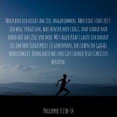 #laufen #rennen #ziel #wettlauf #wettkampf #gott #jesus #heiligerGeist #bibel #bibelvers #philipper #stewi Movie Posters, Movies, Instagram, Holy Spirit, God, Goal, Keep Running, Films, Film