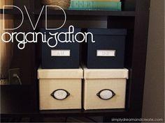 Simply Dream & Create: DVD Organization