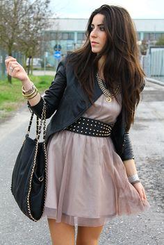 toughen up a girly dress.