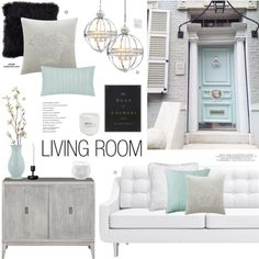 Living Room by xobali on Polyvore featuring interior, interiors, interior design, home, home decor, interior decorating, Versace, Pier 1 Imports, SANDERSON and Lenox