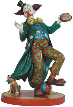 10 Inch Green and Red Checkered Pants Circus Clown U$63