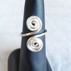 Items similar to wire silver ring adjustable. made in Ireland. on Etsy Wire Rings, Tie Clip, Ireland, Silver Rings, Trending Outfits, Unique Jewelry, Handmade Gifts, How To Make, Accessories