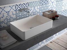 Countertop rectangular HI-MACS® washbasin CB540R by HI-MACS® by LG Hausys Europe