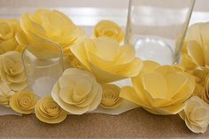 paper flowers as a centerpiece- the best part? they're diy!