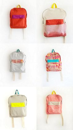 Simple, modern little backpacks on etsy.