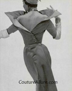 Jacques Fath was considered one of the most important influences in post-war Parisian couture. Jacques Fath, 1950s Style, Vintage Outfits, Vintage Dresses, 1950s Dresses, Vintage Clothing, Vintage Glamour, White Fashion, Look Fashion