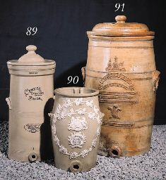 Stoneware Water Filters by LIPSCOMBE, pottery  1880s