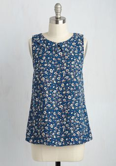 To the Nines Top in Blue Blooms, @ModCloth