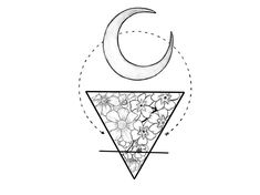 """Alchemy symbol for earth and the moon. Tattoo that I'm going to get for my husband. """"From here to the moon and back."""""""