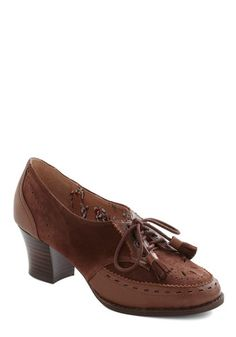 Chocolate Praline on Me Heel, #ModCloth by Miss L Fire was $172.99 now $85.99