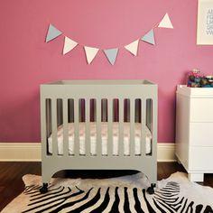 Babyletto 'Grayson' Grey Mini Crib with Pad