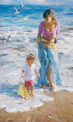 Mother and child by Michael e Inessa Garmash                                                                                                                                                      Mais
