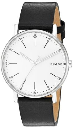 Skagen Signature Leather Watch * You can find more details by visiting the image link.