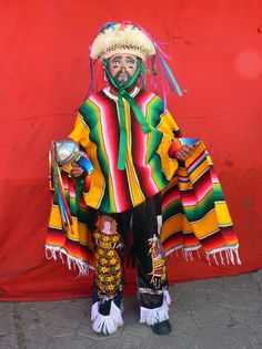 Parachico dancer  - for more on Mexico visit www.mainlymexican... #Mexico #Mexican #mask