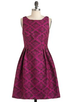 Rock the Block Print Dress by Eva Franco