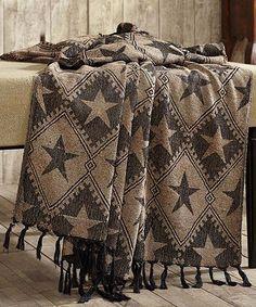 Loving this Jefferson Star Chenille Woven Throw on #zulily! #zulilyfinds