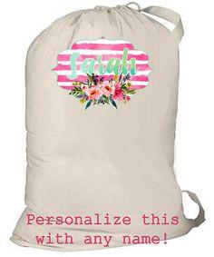 de7de820fc Laundry Bag Personalized totebag monogrammed bag college Graduation  Presents
