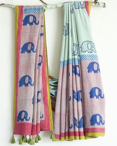 These Cotton Sarees - The Most Beautiful Attire, A timeless Fashion which Refuses to Retire. Indigo Prints, Painted Clothes, Scarf Design, Ethnic Fashion, Women's Fashion, Saree Blouse Designs, Saree Collection, Cotton Saree, Womens Scarves