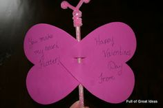Full of Great Ideas: Valentine's Day Butterfly Cards