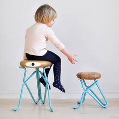 They're so funny! Companion Jr., the humorous stool for children designed by Phillip Grass ➜http://bit.ly/2byYYZ5