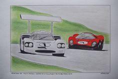 Brands Hatch 1967 Chaparral 2F et Ferrari 330 P4
