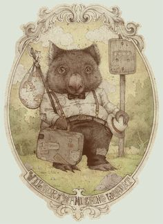 wilbur the wandering wombat by *teaganwhite on deviantART