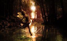 Fairy dancing on water
