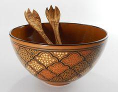 Le Souk Honey Handmade and Hand Painted Medium Serving Bowl  #LeSoukCeramique